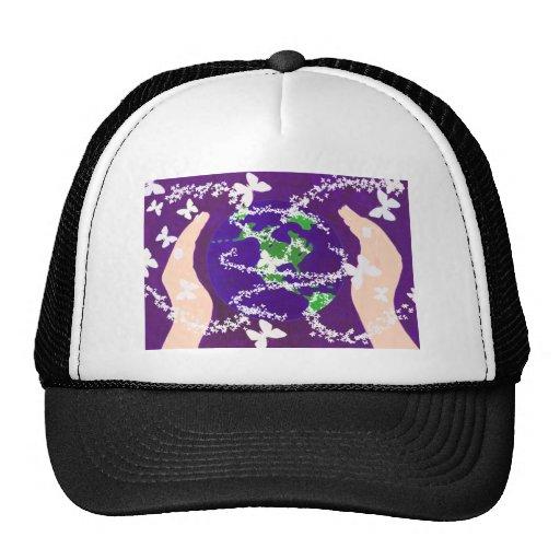 Hands around the World Trucker Hat
