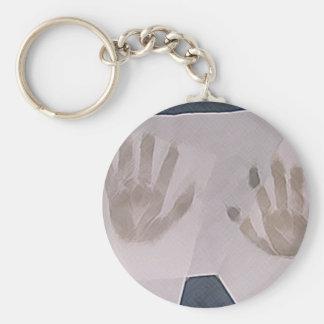 Hands Basic Round Button Keychain