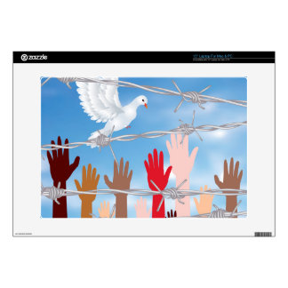 Hands Behind a Barbed Wire 2 Laptop Skins