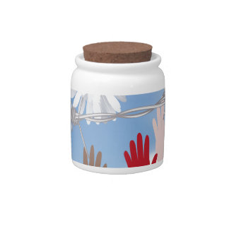 Hands Behind a Barbed Wire 3 Candy Jar