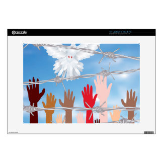 Hands Behind a Barbed Wire 3 Laptop Skin