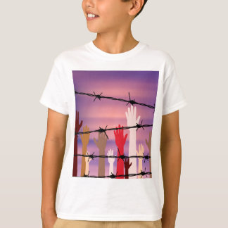 Hands Behind a Barbed Wire T-Shirt