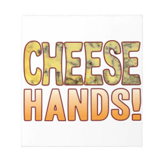 Hands Blue Cheese Notepad