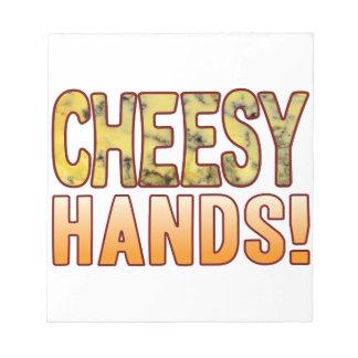 Hands Blue Cheesy Notepad