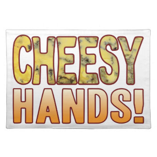 Hands Blue Cheesy Placemat