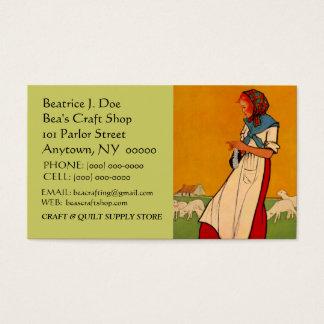 HANDS BUSY NEEDLEWORK KNIT CROCHET BUSINESS CARD