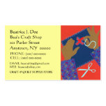 HANDS BUSY QUILTING STITCHIN CRAFTER BUSINESS CARD