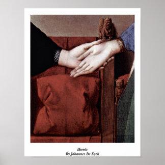 Hands,By Johannes De Eyck Posters
