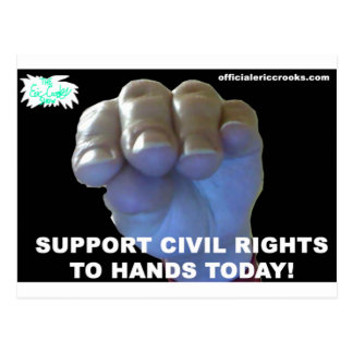 Hands Civil Rights Postcard