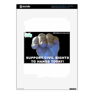 Hands Civil Rights Skin For iPad 3