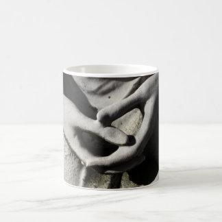 Hands Clutched Mug