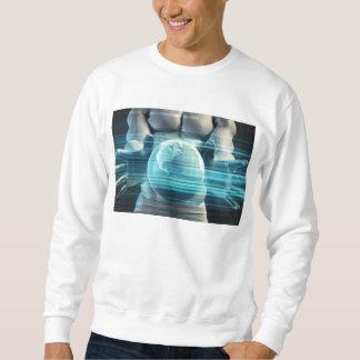 Hands Cradling Globe as a Business Technology Sweatshirt