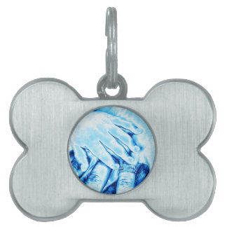 hands, family pet tag