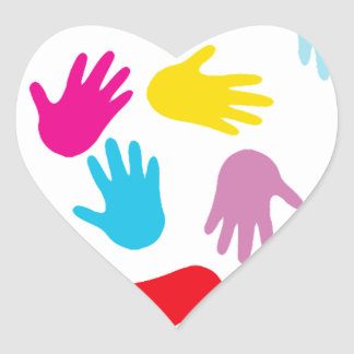 Hands for Love image Heart Sticker