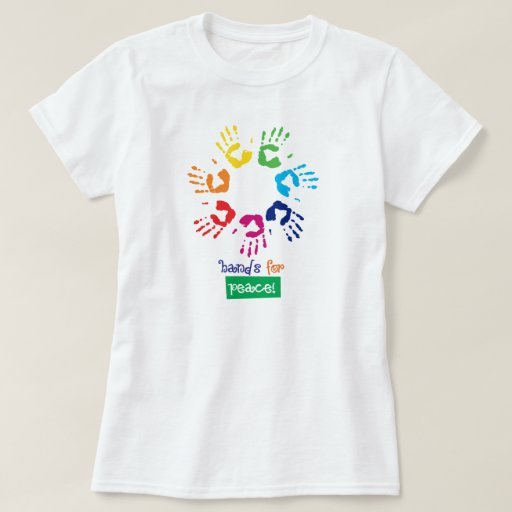 Hands for peace playera