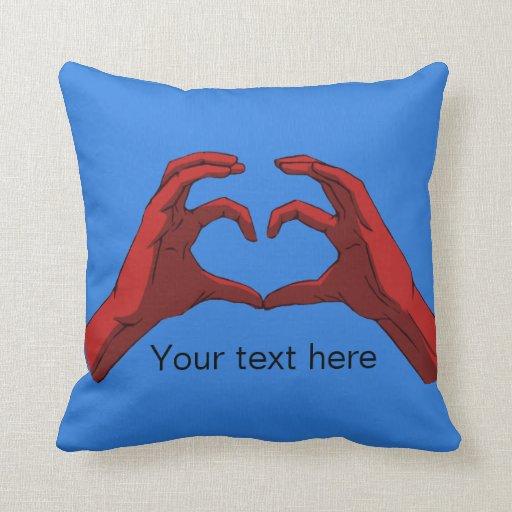 Hands Form A Heart Pillow