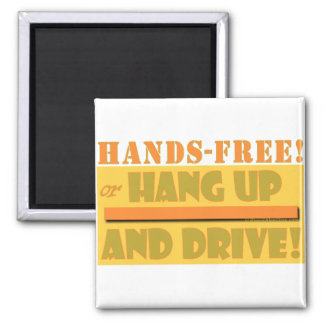 HANDS FREE CROPPED 2 INCH SQUARE MAGNET
