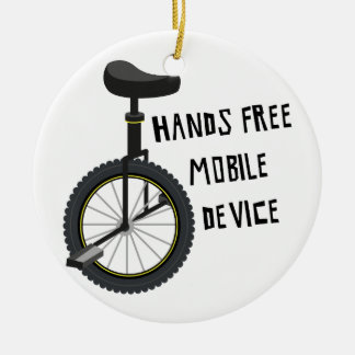 Hands Free Mobile Device Ceramic Ornament