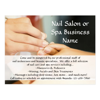 Hands Giving Manicure, Nail Salon Postcard