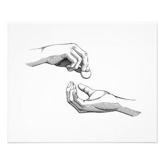 Hands Giving & Receiving Money Flyer