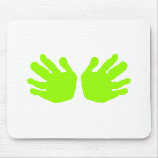 Hands Green Lt The MUSEUM Zazzle Gifts Mouse Pad