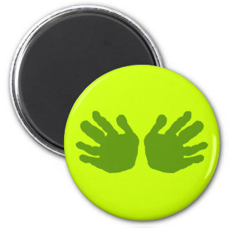 Hands Green The MUSEUM Zazzle Gifts 2 Inch Round Magnet