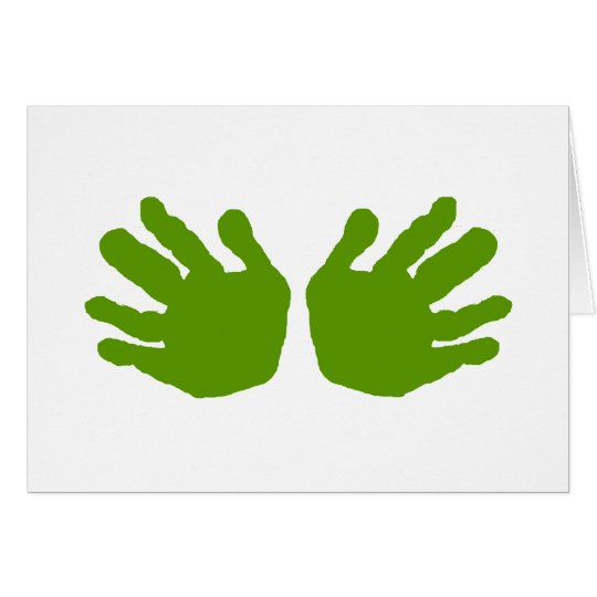 Hands Green The MUSEUM Zazzle Gifts Card