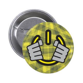 Hands Gripping a Power Symbol Pinback Buttons