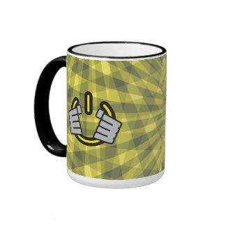 Hands Gripping a Power Symbol Ringer Mug