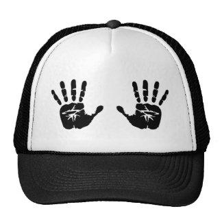 Hands handprints trucker hat