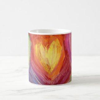 Hands & Heart Diversity Love Art Custom Coffee Mug