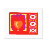 Hands heart envelopes valentines design stretched canvas prints