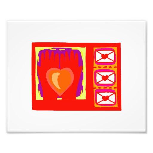 Hands heart envelopes valentines design photo