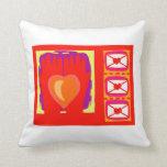 Hands heart envelopes valentines design throw pillow