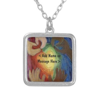 Hands & Hearts Love Art Jewelry Pendant Necklace