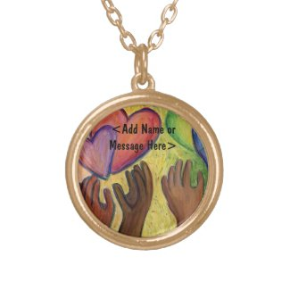 Hands & Hearts Love Art Jewelry Pendant Necklaces
