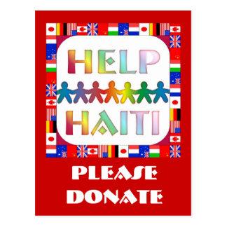 Hands Helping Haiti - Please Donate Postcard