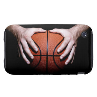 Hands holding a basketball tough iPhone 3 case