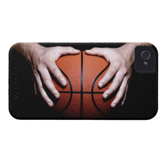 Hands holding a basketball iPhone 4 cover