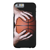 Hands holding a basketball iPhone 6 case