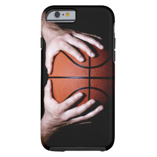 Hands holding a basketball tough iPhone 6 case