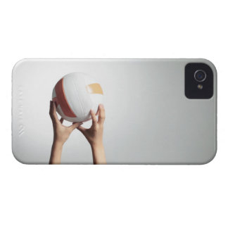 Hands holding a volleyball,hands close-up iPhone 4 case