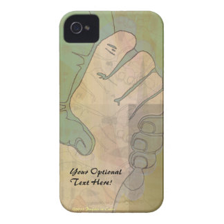 Hands Holding Hands Green iPhone 4 Case-Mate Case