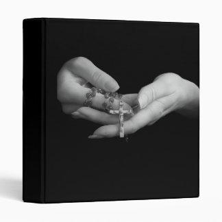 "Hands Holding Rosary 1"" Photo Album Vinyl Binder"