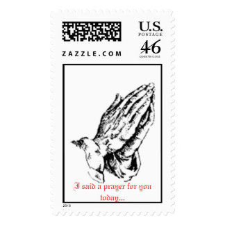 hands, I said a prayer for you today... Postage Stamps