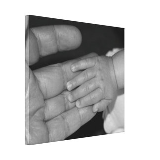 Hands in Black and White Canvas Print