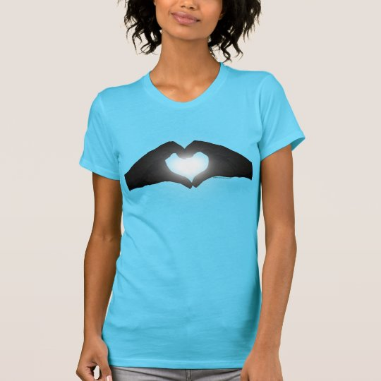 Hands in Heart Shape Silhouette T-Shirt