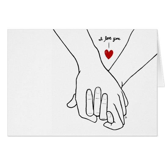 Hands in Love Card