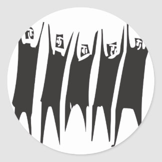 Hands in the Air Classic Round Sticker