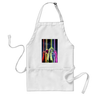 Hands in the air with rings -Color Adult Apron